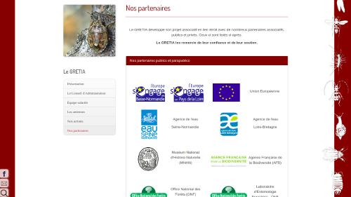 site web association naturaliste Les partenaires du GRETIA