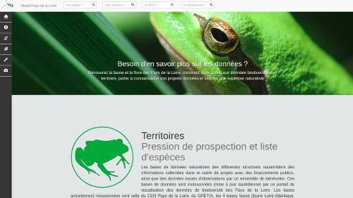 atlas biodiversité Pays de la Loire Information sur les données