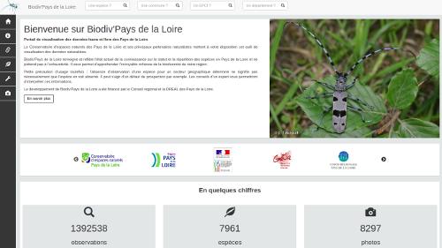atlas biodiversité Pays de la Loire Accueil de Biodiv'Pays de la Loire