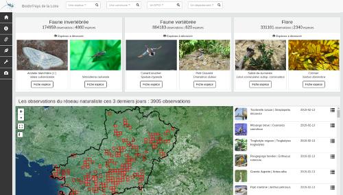 atlas biodiversité Pays de la Loire Les dernières observations du réseau naturaliste des Pays de la Loire
