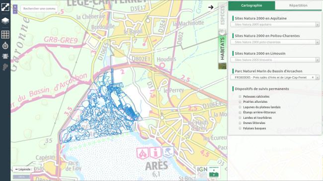Cartes de répartition de la végétation Cartes interactives de l'OBV : cartographie d'habitats naturels