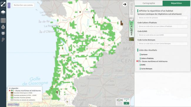 Cartes de répartition de la végétation Cartes interactives de l'OBV : répartition des habitats et des végétations