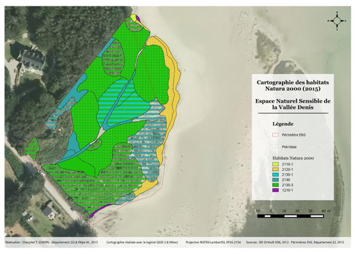 Valorisation cartographique des données d'habitats naturels Cartographie des habitats Natura 2000 de la Vallée Denis