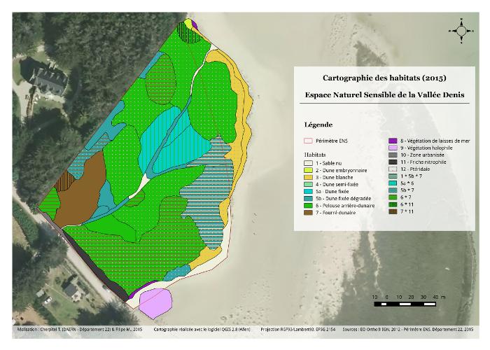 Valorisation cartographique des données d'habitats naturels Cartographie des habitats de la Vallée Denis