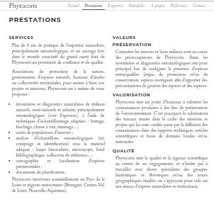 site web naturaliste indépendant Prestations et valeurs de Phytocoris